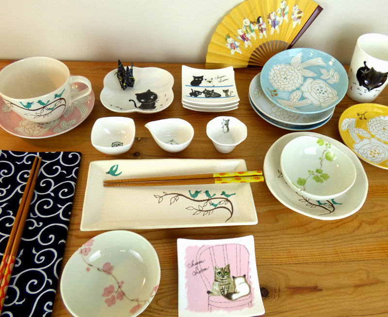 Japanese plates and dishes