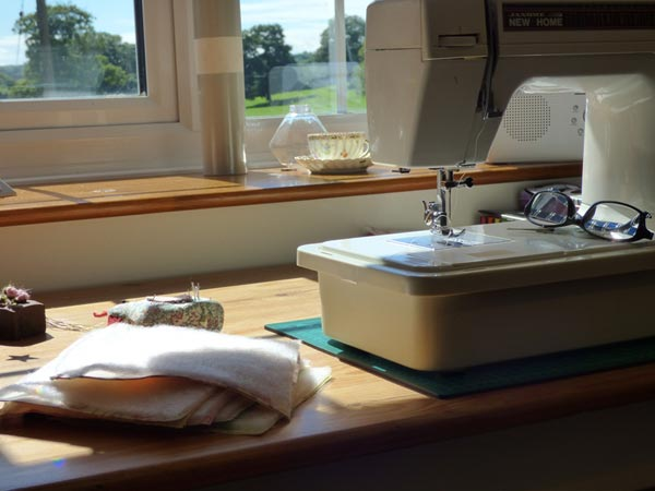 Sewing machine by the window photo