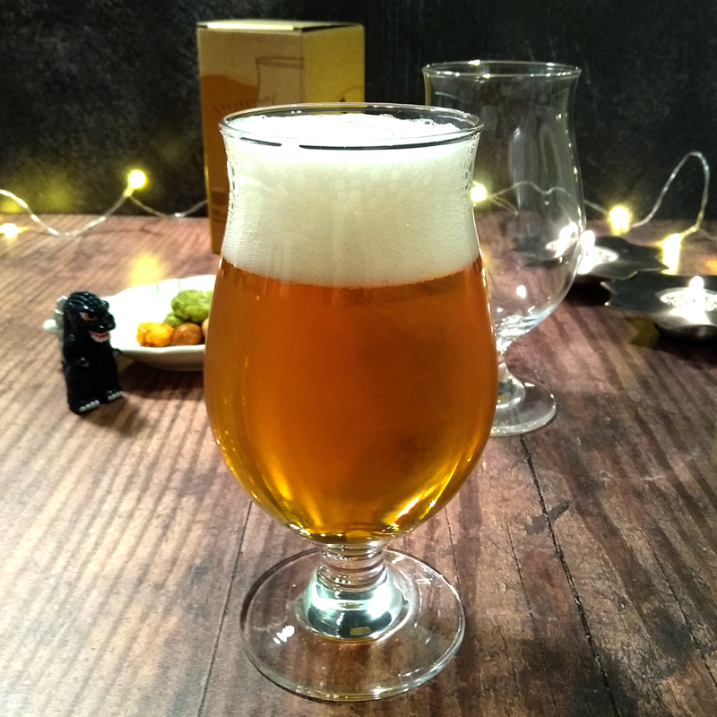 Glass of Japanese craft beer