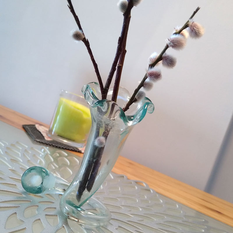 Japanese recycled glass vase
