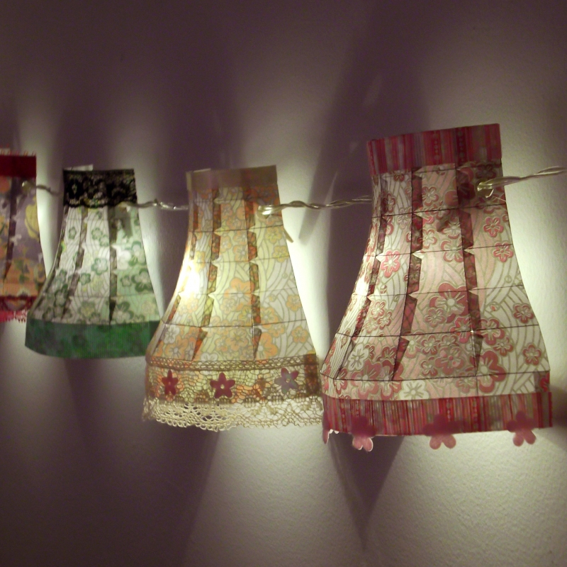 Vintage Paper Lampshade Pattern Make Your Own