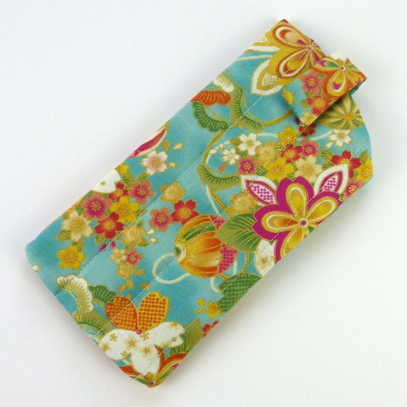 e1938b09ac88 Handmade Sunglasses Case made in Traditional Design Japanese Fabric