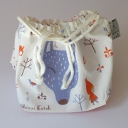 100% cotton lunch bag featuring Red Riding Hood & wolf design