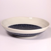 Large Navy and White Tobikanna Bowl