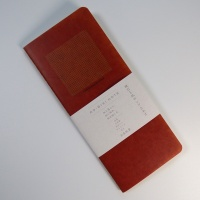 'Ro-biki' 2mm Square Grid Notebook with red cover