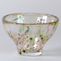 'Aki' glass sake cup