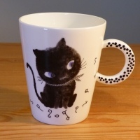 Black Cat mug by Shinzi Katoh