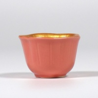 Pink and gold mini dish