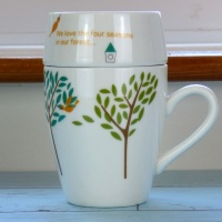 'Forest Birds' design cafe mug by Shinzi Katoh