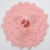 Pink Hydrangea design silicone cup cover