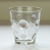 'Dot' design glass tumbler, small size