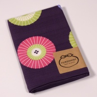 Purple furoshiki wrapping cloth