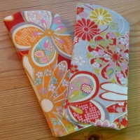 Handmade quilted glasses cases in traditional Japanese fabric