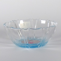 'Kakigori' design glass bowl (blue)