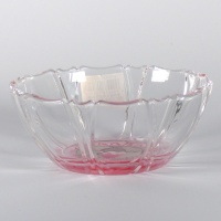 'Kakigori' design glass bowl (pink)