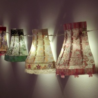Vintage style paper lampshades