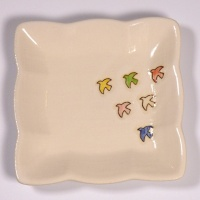 Square mini plate with Birds design