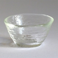 Mount Fuji textured glass sake sipping cup