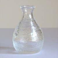Mount Fuji glass sake jug