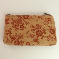 Canvas zip bag with floral design