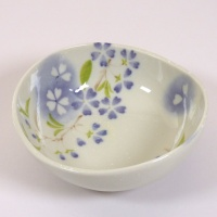 'Petal' porcelain bowl in blue