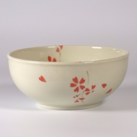 'Sakura' round ceramic bowl with cherry blossom design