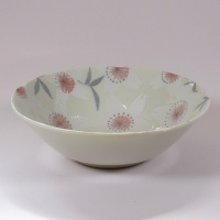 'Sakura Temari' ceramic bowl in Cream