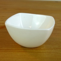 White square mini dish by Shinzi Katoh
