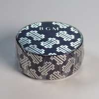 Japanese washi tape in silver and dark blue design