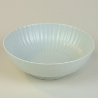 Ceramic Japanese bowl with white matte glaze