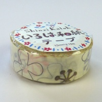 Flower pattern washi tape by Shinzi Katoh