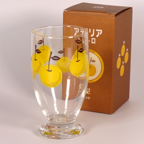 Nashi Pear design glass tumbler with decorative presentation box