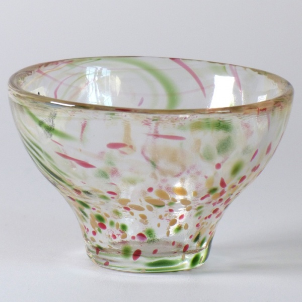 'Aki' Japanese glass sake cup