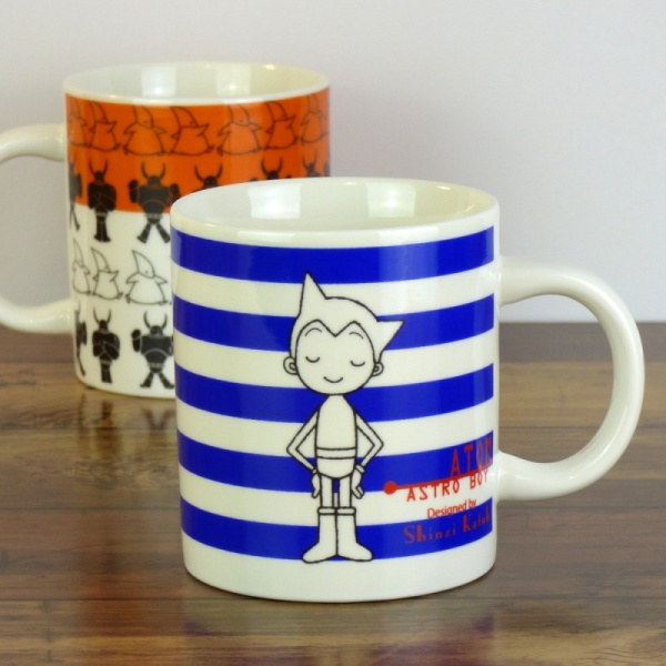Blue and orange Atom Astro Boy mugs