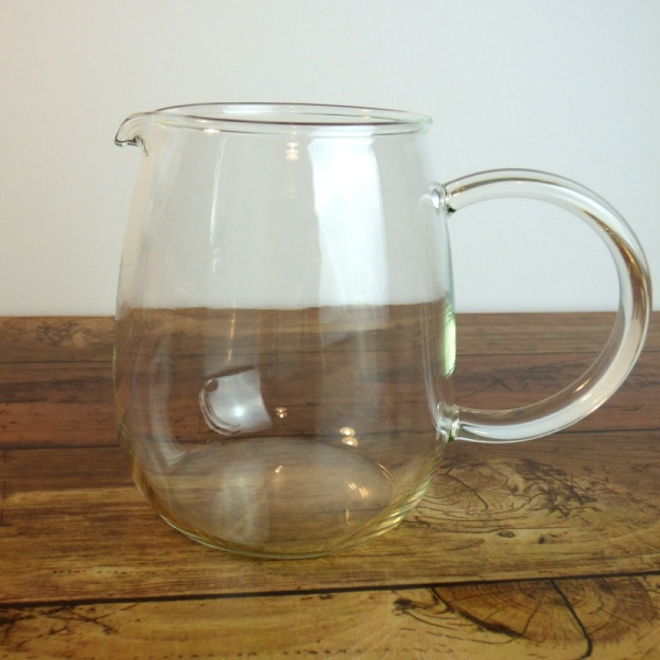 Clear glass coffee jug