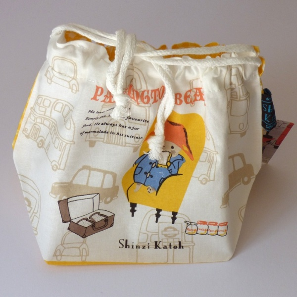 Paddington Bear design 100% cotton bento bag