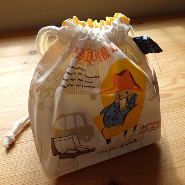 Paddington Bear cotton lunch bag with drawstring top