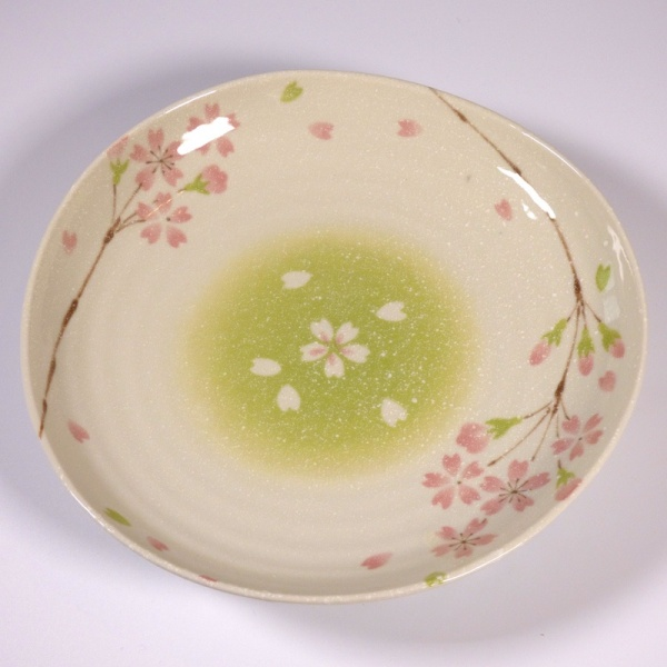 Large 'Biyori' design ceramic plate