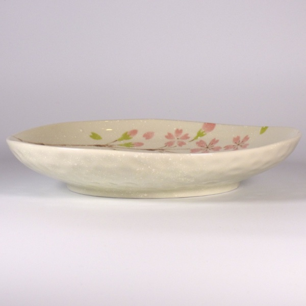 Large ceramic plate with sakura / cherry blossom design