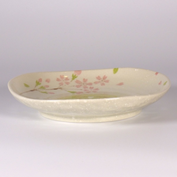 Small 'Biyori' design ceramic plate