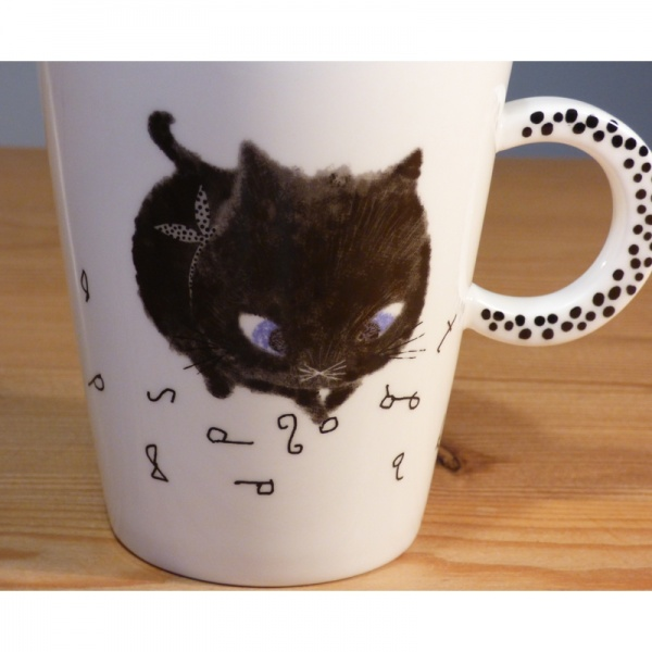 Black Cat mug - detail