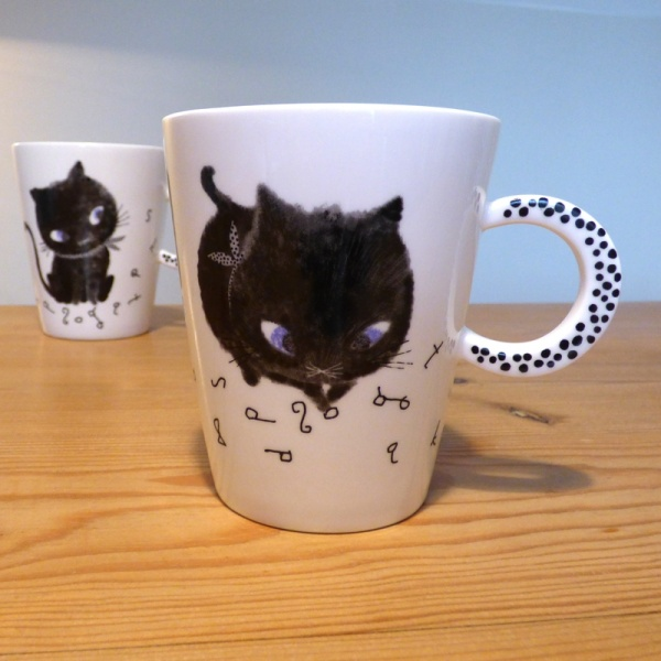 Two Black Cat mugs