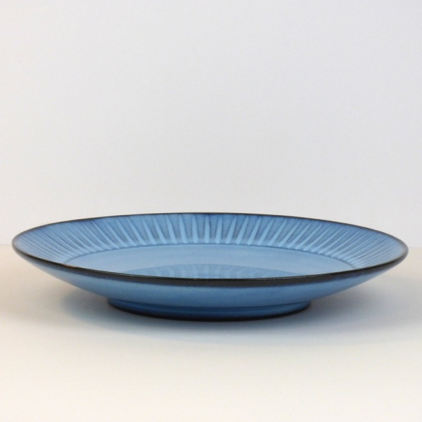 Blue Hasami ware dinner plate