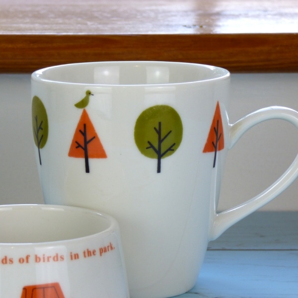 'Drive in the Park' cafe mug close up
