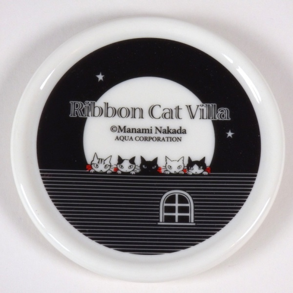Ceramic lid of the 'Musical Villa' Cat design mug