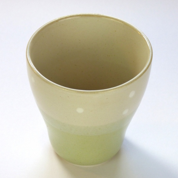 Traditional Japanese teacup top view