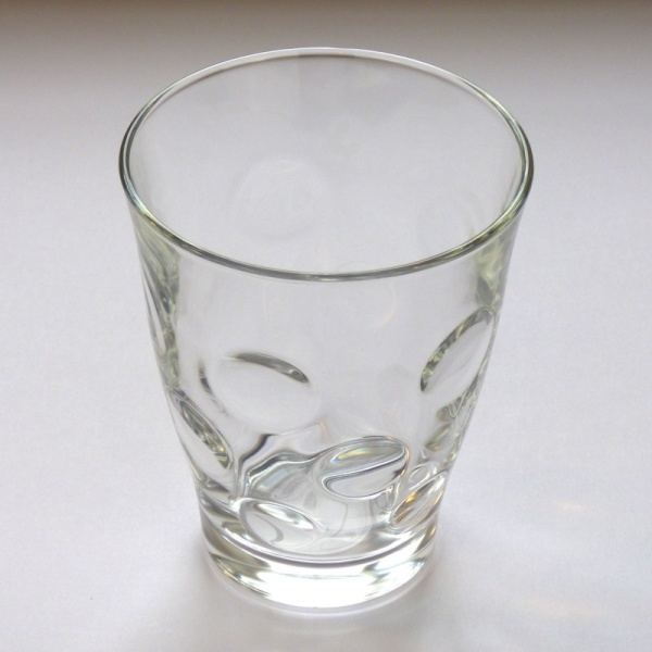 'Dot' design glass tumbler, large size