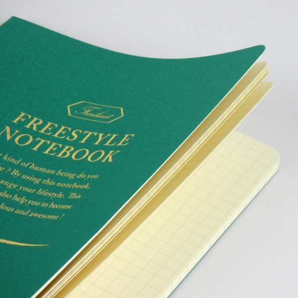 Freestyle notebook in green 'forest' inner pages
