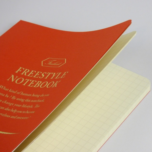 Freestyle notebook in orange 'sunset' pages