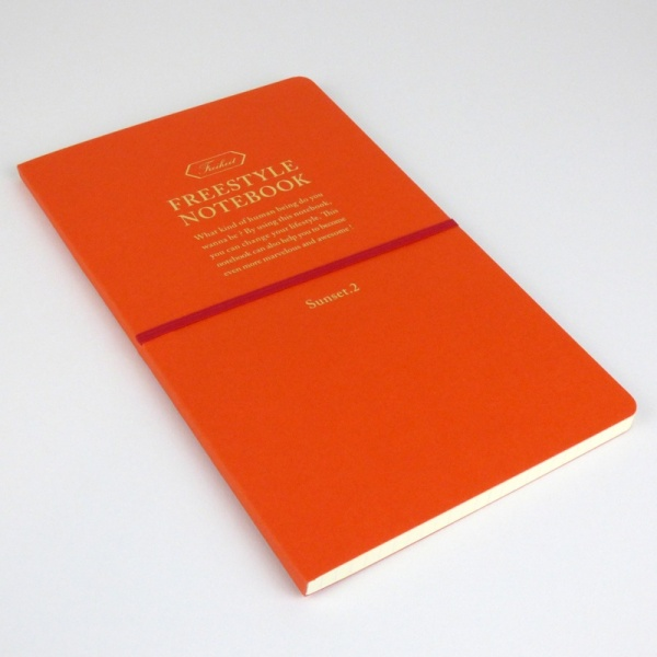 Freestyle notebook in orange 'sunset' front cover
